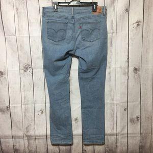 Levis 712 Slim Blue Jeans 33 Straight Skinny
